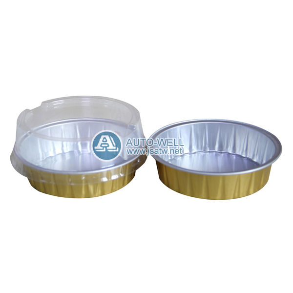 Disposable aluminum foil containers with lids